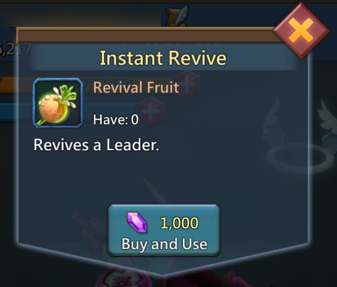 purchase revival fruit with 1000 gems