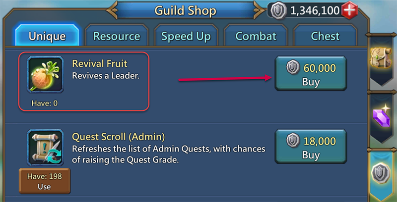 purchase revival fruit from gem mall